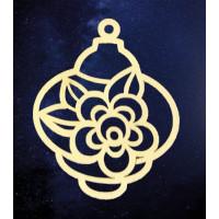 ПКФ Созвездие 151217 Подвеска новогодняя с цветком