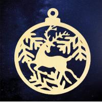 ПКФ Созвездие 151235 Подвеска Шар с оленем