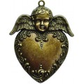 Spellbinders GL2-001 Заготовки для украшений «Heart Angel» (Бронза)