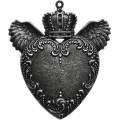 Spellbinders GL2-010S Заготовки для украшений «Love Wings - Silver» (Серебро)