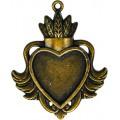 Spellbinders GLLB-001G Заготовки для украшений «Heart Bezel-Large-Bronze» (Бронза)