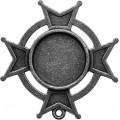 Spellbinders GLLB-005 Заготовки для украшений «Iron Cross Bezel-Large-Silver» (Серебро)