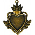 Spellbinders GLSB-001 Заготовки для украшений «Heart Bezel-Small-Bronze» (Бронза)