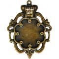 Spellbinders GLSB-003 Заготовки для украшений «Crown Bezel-Small-Bronze» (Бронза)