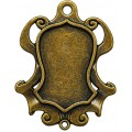 Spellbinders GLSB-006 Заготовки для украшений «Shield Bezel-Small-Bronze» (Бронза)