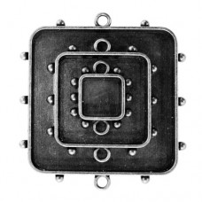 Заготовка для украшения Квадраты 1 (Серебро) (арт. MB1-002S)