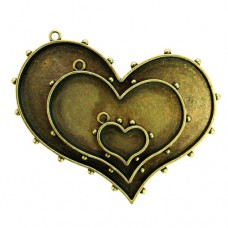 Заготовка для украшения Сердца 1 (Бронза) (арт. MB1-005)