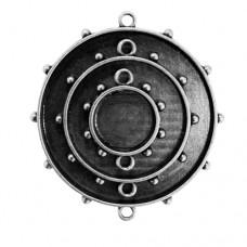 Заготовка для украшения Круги 3 (Серебро) (арт. MB1-007S)