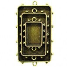 Заготовка для украшения Прямоугольники 2 (Бронза) (арт. MB1-008)
