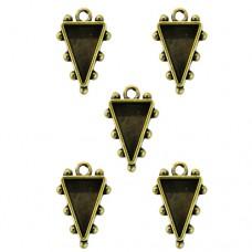 Заготовка для украшения Треугольники 1 (Бронза) (арт. MB1-504)