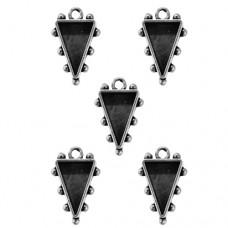 Заготовка для украшения Треугольники 1 (Серебро) (арт. MB1-504S)