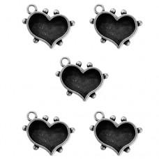 Заготовка для украшения Сердца 1 (Серебро) (арт. MB1-505S)
