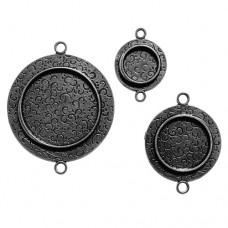 Заготовка для украшения Круги 1 (Серебро) (арт. MB2-001S)