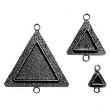 Заготовка для украшения Треугольники 2 (Серебро) (арт. MB2-003S)