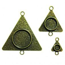 Заготовка для украшения Треугольники 3 (Бронза) (арт. MB2-004)