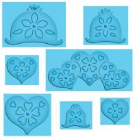 """Spellbinders S4-381_1 Набор ножей Spellbinders® Enhanceabilities® """"Сердца и цветы"""""""