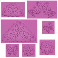 """Spellbinders S4-382_1 Набор ножей Spellbinders® Enhanceabilities® """"Бабочки и цветы"""""""