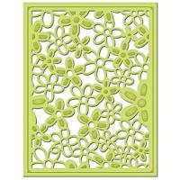 "Spellbinders S4-452 Набор ножей Spellbinders® Shapeabilities® Decorative Card Front ""Цветочный узор"""