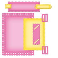 "Spellbinders S5-134_1 Набор ножей Nestabilities® Card Creator ""A2 Необычные марки"""