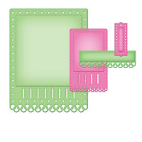 "Spellbinders S5-135_1 Набор ножей Nestabilities® Card Creator ""A2 Необычная тесьма"""