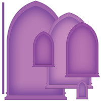 "Spellbinders S5-178_1 Набор ножей Spellbinders® Nestabilities® Card Creator ""Арочные окна 1"""