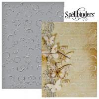 """Spellbinders SEL-011 Папка для тиснения односторонняя Em-bossing Fold'ers """"Разбрызганные окружности"""""""