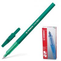 """STABILO 808/36 Ручка шариковая STABILO """"Liner"""", ЗЕЛЕНАЯ, корпус зеленый, узел 0,7 мм, линия письма 0,3 мм, 808/36"""