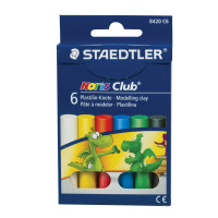 """STAEDTLER 8420 C6 Пластилин классический STAEDTLER (Германия) """"Noris Club"""", 6 цветов, 126 г, картонная упаковка, 8420 C6"""