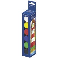 """STAEDTLER 885 Гуашь STAEDTLER (Штедлер, Германия) """"Noris Club"""", 6 цветов по 20 мл, без кисти, картонная упаковка, 885"""
