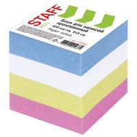 STAFF 120383 Блок для записей STAFF, проклеенный, куб 8х8 см, 800 листов, цветной, чередование с белым, 120383