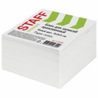 STAFF 129196 Блок для записей STAFF проклеенный, куб 9х9х5 см, белый, белизна 90-92%, 129196
