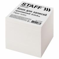 STAFF 129205 Блок для записей STAFF проклеенный, куб 9х9х9 см, белый, белизна 70-80%, 129205