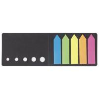 """STAFF 129358 Закладки клейкие STAFF, НЕОНОВЫЕ пластиковые """"СТРЕЛКИ"""", 50х12 мм, 5 цветов х 20 листов, в картонной книжке, 129358"""