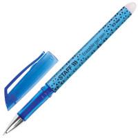 """STAFF 142494 Ручка стираемая гелевая STAFF """"College EGP-101"""", СИНЯЯ, хромированные детали, узел 0,5 мм, линия письма 0,35 мм, 142494"""