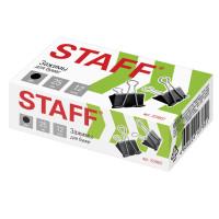 """STAFF 224607 Зажимы для бумаг STAFF """"EVERYDAY"""", КОМПЛЕКТ 12 шт., 25 мм, на 100 листов, черные, картонная коробка, 224607"""