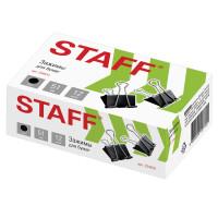 """STAFF 224610 Зажимы для бумаг большие STAFF """"EVERYDAY"""", КОМПЛЕКТ 12 шт., 51 мм, на 230 листов, черные, картонная коробка, 224610"""