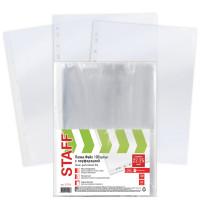 STAFF 227374 Папки-файлы перфорированные ЭКОНОМ, А4, STAFF, КОМПЛЕКТ 100 шт., гладкие, 22 - 25 мкм, 227374