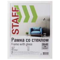 "STAFF 391195 Рамка 30х40 см, белая STAFF ""Grand"", багет 18 мм, стекло, МДФ, 391195"