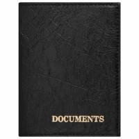 """STAFF  Обложка для автодокументов STAFF """"Profit"""", экокожа, """"DOCUMENTS"""", черная, 237181"""