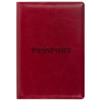 """STAFF  Обложка для паспорта STAFF, полиуретан под кожу, """"ПАСПОРТ"""", бордовая, 237600"""