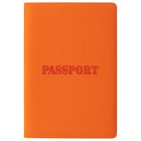 """STAFF  Обложка для паспорта STAFF, мягкий полиуретан, """"ПАСПОРТ"""", рыжая, 237606"""
