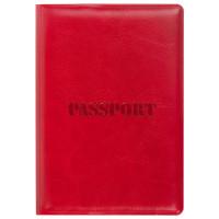 """STAFF  Обложка для паспорта STAFF, полиуретан под кожу, """"ПАСПОРТ"""", красная, 237601"""