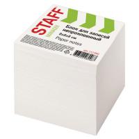 STAFF  Блок для записей STAFF непроклеенный, куб 8х8х8 см, белый, белизна 90-92%, 111980