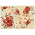 """Stamperia DFS352 Бумага рисовая для декупажа """"Красные розы"""""""