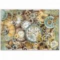 """Stamperia DFS378 Бумага рисовая для декупажа """"Часы и часовые механизмы"""""""