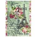 "Stamperia DFSA4026 Бумага рисовая для декупажа ""Voyage en France Tour Eiffel"""
