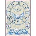"Stamperia DFSA4068 Бумага рисовая мини-формат  ""Синие часы"""