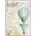 "Stamperia DFSA4114 Бумага рисовая мини-формат ""Воздушный шар"""