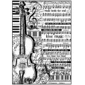 """Stamperia DFSA4188 Бумага рисовая мини-формат """"Ноты и виолончель"""""""