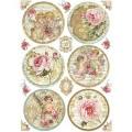 """Stamperia DFSA4206 Бумага рисовая мини-формат  """"Розы и ангелы. Шары"""""""